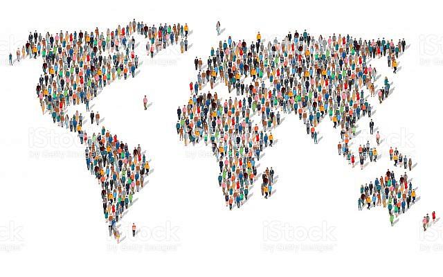 Illustration : la population mondiale. (Crédit : iStock)
