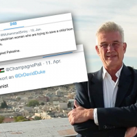 Tweets aimés par Christian Clages. (Photo : Twitter / Représentation allemande de Ramallah)