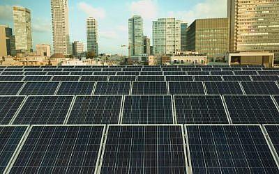 Des panneaux solaires générateurs d'électricité (Crédit : Danny Shechtman)