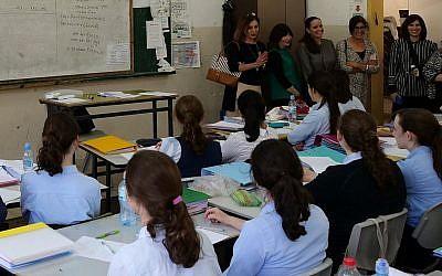 Une classe d'étudiantes Adva au séminaire Yashan de Beis Yaakov à Jérusalem, en juillet 2019. (Crédit )