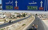 Des civils syriens fuient la zone d'Idlevb, le 21 août 2019. (Crédit : Omar HAJ KADOUR / AFP)