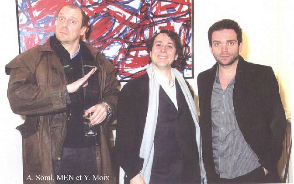 Yann Moix en compagnie du polémiste Alain Soral et du sulfureux écrivain Marc-Edouard Nabe, tous les trois accusés d'antisémitisme.