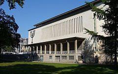 La grande synagogue de la Paix, à Strasbourg. (Crédit : Jonathan M / Wikimédia / CC BY-SA 3.0)