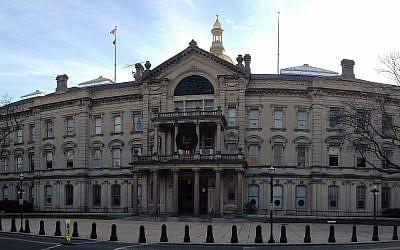 Le siège de la législature de l'Etat du New Jersey à Trenton, dans le New Jersey (Crédit : CC BY-SA 4.0, Famartin/ Wikimedia Commons)