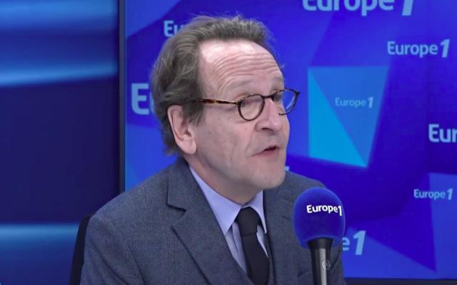 Gilles Le Gendre dans la matinale d'Europe 1 du 3 avril 2019. (Capture d'écran Europe 1)