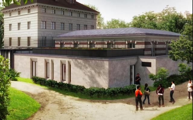 Image architecturale du nouveau musée consacré à la Libération de la ville, au général Leclerc et à Jean Moulin, à Paris. (Crédit : chantiermuseeliberation.paris.fr)