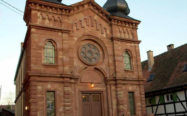 La synagogue de Wolfisheim. (Crédit : Fondation du patrimoine)
