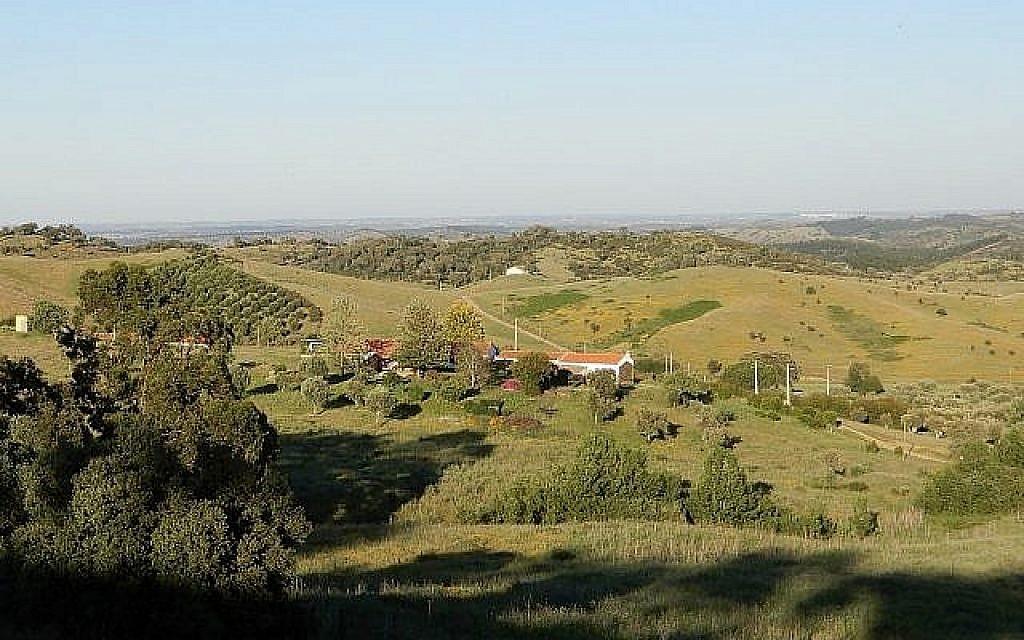 La région d'Alentejo, rurale et isolée, au sud du Portugal, a attiré de nombreux Israéliens et européens grâce à des prix bas et à l'acceptation de styles de vie alternatifs. Photo prise le 14 mai 2019  (Crédit : Melanie Lidman/Times of Israel)
