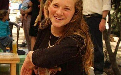 Rina Shnerb, 17 ans, a été tuée dans un attentat terroriste en Cisjordanie le 23 août 2019. (Autorisation de la famille)