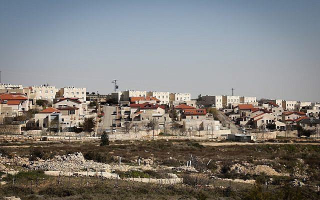L'implantation de Elazar en Cisjordanie, le 5 février 2019. (Crédit : Gershon Elinson/Flash90)