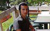 Dvir Sorek, un étudiant de yeshiva et soldat de Tsahal qui n'était pas en service, a été retrouvé poignardé à mort près d'une implantation en Cisjordanie, le 8 août 2019.(Autorisation de la famille)