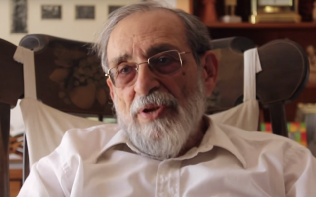 Le rabbin Reuven Hammer. (Crédit : YouTube )