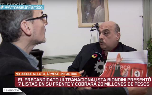 Alejandro Biondin, à droite; (Crédit : capture d'écran YouTube)