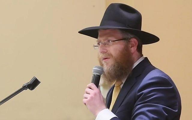 Le rabbin Habad Zalman Heber. (Capture d'écran / Tacoma News Tribune)