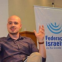 Andre Lajst lors d'un séminaire à Porto Alegre, au Brésil, le 4 décembre 2017. (Autorisation de la Grande do Sul Jewish Federation via JTA)
