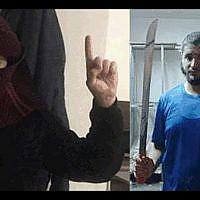 Amin Yassin, à gauche et Ali Armush, deux arabes israéliens mis en examen pour liens avec l'Etat islamique, le 22 août 2019. (Crédit : Shin Be