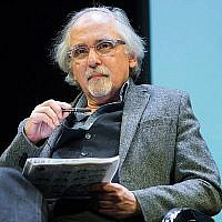 "Le dessinateur Art Spiegelman participe à la discussion organisée à l'Alliance française ""Après Charlie: l'avenir de l'art, de la satire et de la censure"" au Florence Gould Hall, le 19 février 2015 à New York.(Mark Sagliocco/Getty Images via JTA)"