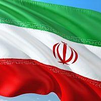 Drapeau iranien. (Photo libre de droits)