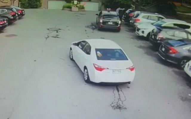 Un homme Juif agressé par un chauffeur de taxi à Montréal, au Canada, le 28 juillet 2019 (Capture d'écran : Facebook)
