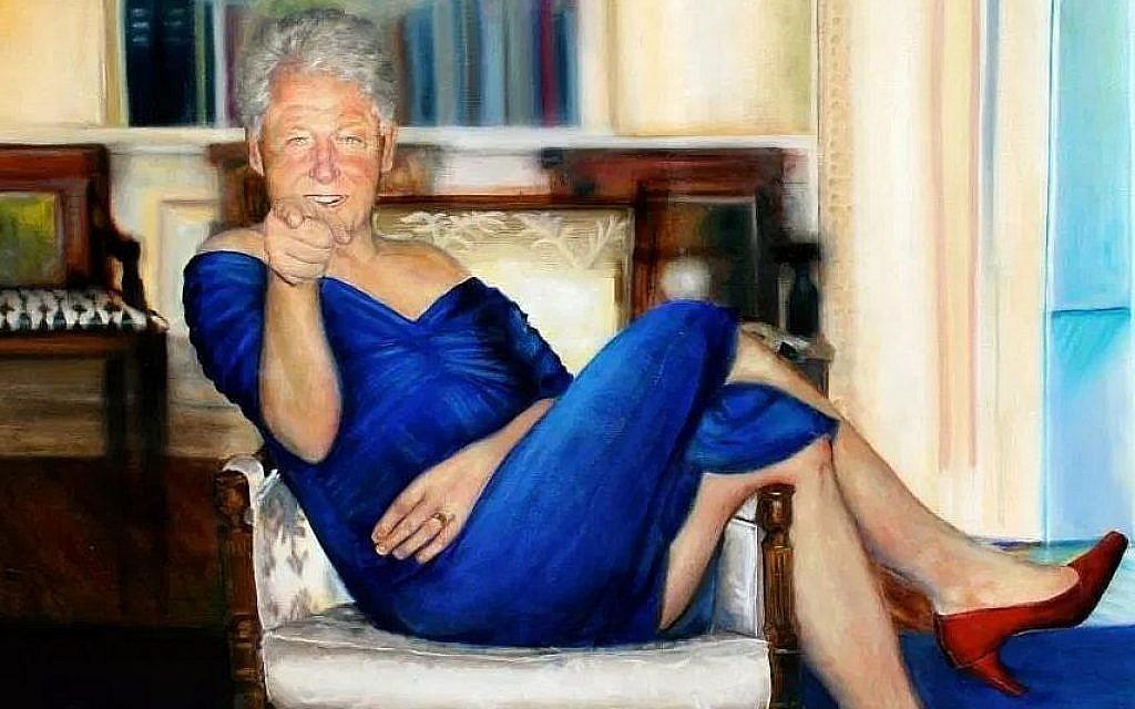 Peinture Robe En Une Retrouvée Dans Clinton Accrochée Maison De La ZikPXOu