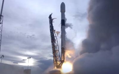 SpaceX lance le satellite Amos-17 depuis Cape Canaveral, en Floride, le 6 août 2019 (Capture d'écran)