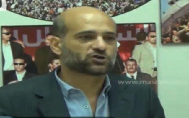 Ramy Shaath, fils de l'homme politique palestinien Nabil Shaath. (Crédit : capture d'écran / YouTube)