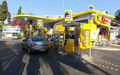 Une station-service Paz à Haïfa. (Crédit : Mattes / Wikimédia / Domaine public)