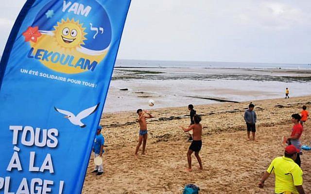 L'évènement «Yam Lekoulam» à Saint-Aubin-sur-Mer, en Normandie. (Crédit : Facebook / NOÉ pour la jeunesse)