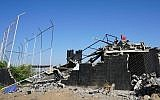 Le mémorial d'Aït Faska après sa destruction. (Crédit : PixelHelper)