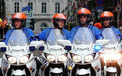 Des motards de la police belge. (Crédit : Eddy Van 3000 / Flickr / CC BY-SA 2.0)