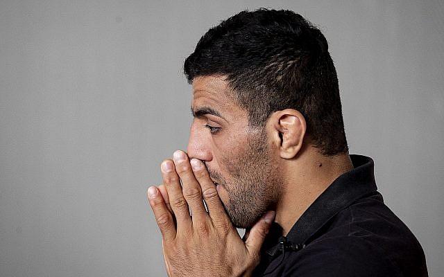 Le judoka iranien Saeid Mollaei en Allemagne en septembre 2019 (Crédit : AP Photo/Michael Probst)