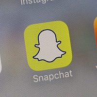 L'application Snapchat. (Crédit : AP Photo/Richard Drew)