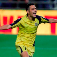 Eran Zahavi célébrant un but en 2014. (Crédit : Nir Keidar / Wikimédia / CC BY-SA 3.0)