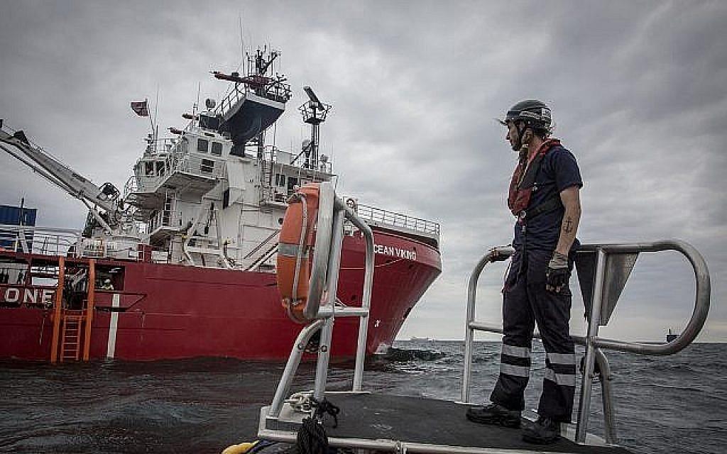 Le bateau de sauvetage Ocean Viking. (Crédit : Anthony Jean/SOS Méditerranée)