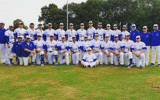L'équipe israélienne de baseball lors de l'Euro 2019. (Crédit : Fédération israélienne de baseball / Israel Baseball / Twitter)