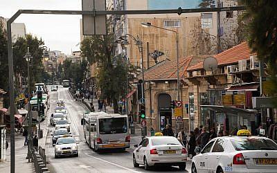 La rue King George Street à Jérusalem, le 26 novembre 2015 (Crédit : Elon Kenig/Flash90)