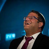 Itamar Ben-Gvir du parti Otzma Yehudit , à une conférence à Jérusalem le 2 septembre 2019. (Crédit : Yonatan Sindel/Flash90)