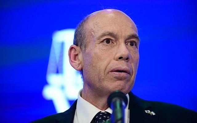 Le contrôleur de l'Etat d'Israël Matanyahu Englman s'exprime lors de la conférence annuelle sur la Justice, le 3 septembre 2019. (Photo par Tomer Neuberg/Flash90)