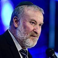 Le procureur-général Avichai Mandelblit lors d'une conférence à Airport City, aux abords de Tel Aviv, le 3 septembre 2019. (Crédit : Tomer Neuberg/Flash90)