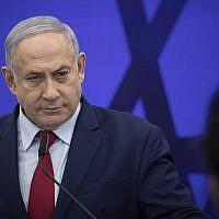 Le Premier ministre Benjamin Netanyahu lors d'un discours à Ramat Gan, le 10 septembre 2019. (Crédit : Hadas Parush/Flash90)