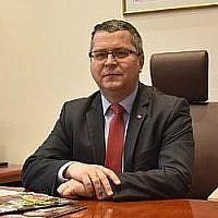 Jarosław Dudzicz, président du tribunal de Gorzów Wielkopolski en Pologne (Crédit : Twitter)