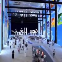 Capture d'écran d'une vidéo du ministère des Affaires étrangères offrant un aperçu du pavillon israélien de l'Exposition universelle de Dubai en 2020. (Crédit : ministère des Affaires étrangères)