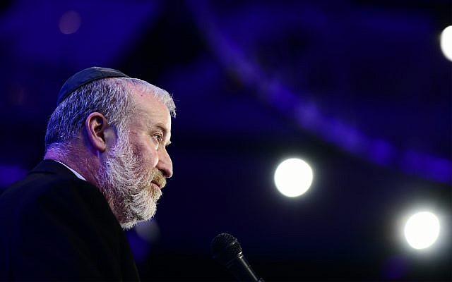 Le procureur-général Avichai Mandelblit lors d'une conférence aux abords de Tel Aviv, le 3 septembre 2019 (Crédit : Tomer Neuberg/Flash90)