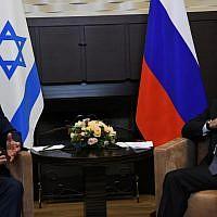 Le Premier ministre Poutine à Sochi, en Russie, le 12 septembre 2019 (Crédit : Amos Ben Gershom/GPO)