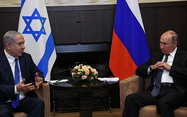 Le Premier ministre Poutine à Sotchi, en Russie, le 12 septembre 2019. (Crédit : Amos Ben Gershom/GPO)