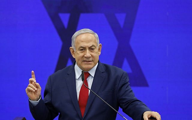 Le Premier ministre Benjamin Netanyahu à Ramat Gan le 10 septembre 2019. (Menahem KAHANA / AFP)