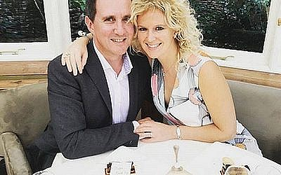 Jonathan Goldstein avec sa femme Hannah Goldstein (Photo de famille /PA Wire via le Jewish News)