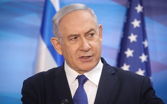 Le Premier ministre Benjamin Netanyahu au Bureau du Premier ministre à Jérusalem le 23 juillet 2019. (Marc Israel Sellem/POOL)