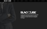 Page principale du site internet Black Cube (Capture d'écran)