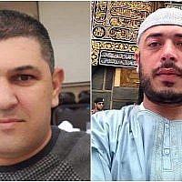 (En partant de la gauche) Edib Dirawi et Iyad Badir, qui ont été assassinés le 20 septembre 2019. (Crédit)